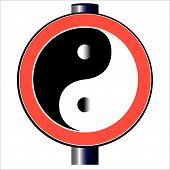 Yin Yang Traffic Sign