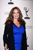 LOS ANGELES - 13 de JUN: Catherine Bach chega na recepção do Daytime Emmy candidatos apresentados por AT
