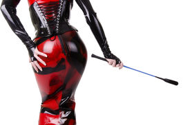picture of fetish clothes  - Woman dressed in dominatrix clothes - JPG