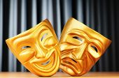 pic of pantomime  - Masks with the theatre concept - JPG