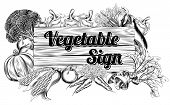 Vegetable Produce Sign