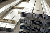 Sheet Metal Profiles In Production Hall