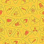 stock photo of frostbite  - Illustration pattern warning signs of danger - JPG