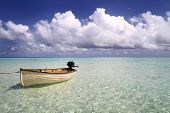 Постер, плакат: Boat Drifiting In The Maldives
