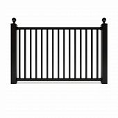 Black Design Metal Railing