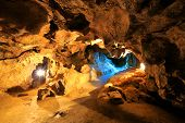 foto of crystallography  - Krychtaleva cave indoor view - JPG