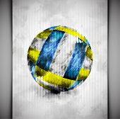 pic of volleyball  - Volleyball ball in watercolor style - JPG