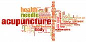 stock photo of qi  - Acupuncture alternative medicine issues and concepts word cloud illustration - JPG