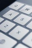 picture of peripherals  - Close up view of keys of pc keyboard - JPG