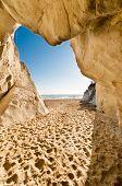 image of bixby  - Pismo Beach limestone on Highway 1 costline - JPG