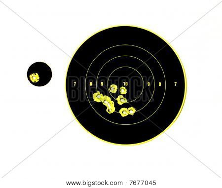 Target With Bullet Holes In