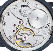 Постер, плакат: Round Mechanic Movement Of Old Watch