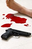 image of crime scene  - concept shot of the crime scene of shooting - JPG