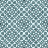 image of interlocking  - Blue and White Interlocking Circles Tiles Pattern Repeat Background that is seamless and repeats - JPG