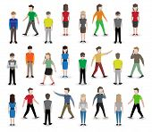 Постер, плакат: People pixel avatars