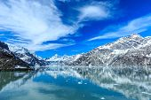 pic of snowy hill  - Panoramic view of Glacier Bay national Park - JPG