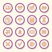 picture of delivery-truck  - Delivery web icons set - JPG