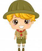 pic of boy scout  - Illustration of a Little Boy Wearing a Boy Scout Uniform - JPG