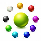 image of  realistic  - All colors and monochrome spheres - JPG