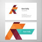 foto of letter k  - Modern letter K Business card template - JPG