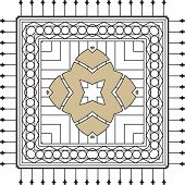foto of wrought iron  - Wrought Iron Fireplace Grill Vector Art - JPG