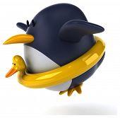 stock photo of floaties  - Fun penguin - JPG