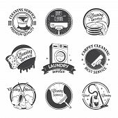 picture of cleaning service  - Set of vintage logos - JPG