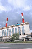picture of chp  - Industrial pipes heat electric station in Moscow - JPG
