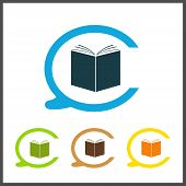 picture of hardcover book  - Vector simple icon library - JPG