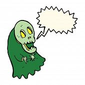 image of ghoul  - cartoon spooky ghoul with speech bubble - JPG
