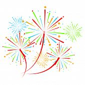 picture of firework display  - vector Firework Display for new year and all party - JPG
