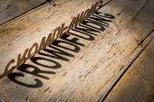 stock photo of word charity  - wooden letters on old aged wooden table build the shadow word crowdfunding vintage style - JPG