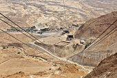 stock photo of masada  - A view from Masada - JPG