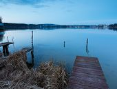 Постер, плакат: Lake Landscape After Sunset