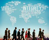 stock photo of earth structure  - Integrity Structure Service Analysis Value Service Concept - JPG