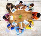 pic of analysis  - Meeting Data Analysis Communication Planning Business Concept - JPG