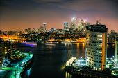 image of canary  - This shot of the Thames and Canary Wharf was taken a few hours before midnight on NYE 2014 - JPG