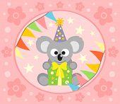 picture of koalas  - Happy Holiday Cartoon background with funny koala - JPG