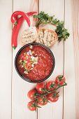 image of vegetable soup  - Gazpacho - JPG