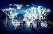 stock photo of  media  - World News Globalization Advertising Event Media Infomation Concept - JPG