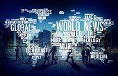 image of globalization  - World News Globalization Advertising Event Media Infomation Concept - JPG