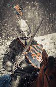 stock photo of longsword  - Medieval knight - JPG