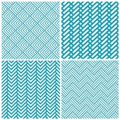 stock photo of chevron  - set of vector chevrons abstract geometric seamless pattern background retro vintage design - JPG