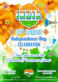stock photo of indian independence day  - illustration of poster for Indian Independence Day celebration - JPG