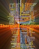 pic of thermal  - Background concept wordcloud illustration of thermal insulation glowing light - JPG