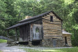 picture of cade  - Elijah Oliver Log Cabin located in Cades Cove Area of the Great Smoky Mountains National Park Tennessee - JPG