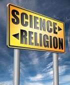 science religion relationship between belief faith and reality evidence and proof evolution or creat poster