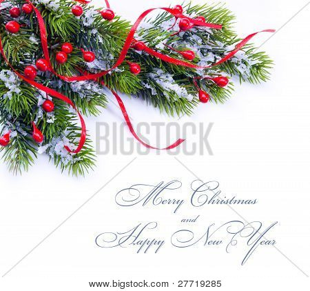 Christmas Decoration Fir Tree Branches