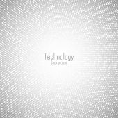 Abstract Circular Light Gray Background. Technology Grey Digital Circle Pixels Pattern. Big Data. Ve poster