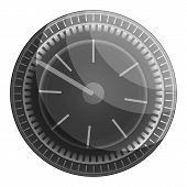 Motorbike Speedometer Icon. Cartoon Of Motorbike Speedometer Vector Icon For Web Design Isolated On  poster